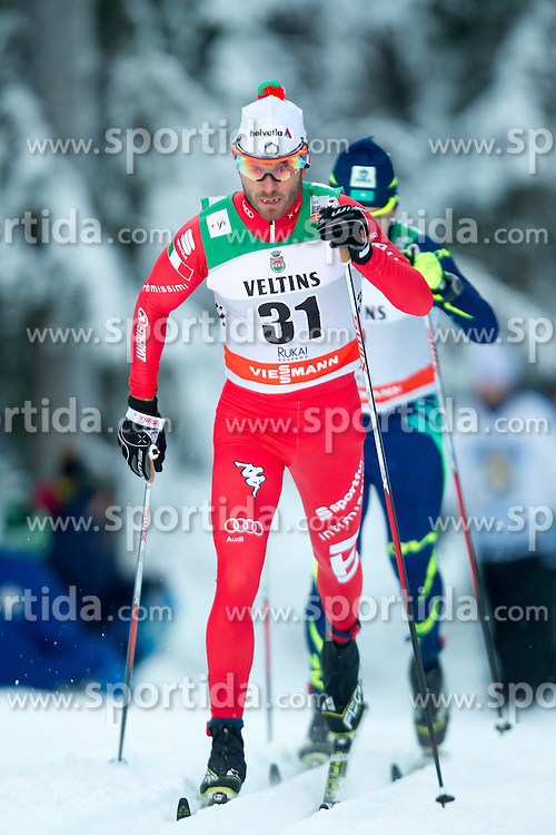 30.11.2014, Nordic Arena, Ruka, FIN, FIS Weltcup Langlauf, Kuusamo, 15 km Herren, im BildRoland Clara (ITA) // Roland Clara of Italy during Mens 15 km Cross Country Race of FIS Nordic Combined World Cup at the Nordic Arena in Ruka, Finland on 2014/11/30. EXPA Pictures © 2014, PhotoCredit: EXPA/ JFK