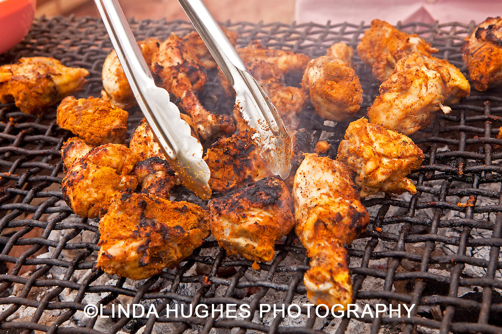 Barbeque Chicken Grilling in Ghana West Africa
