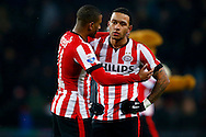 PSV - WILLEM II<br /> PSV spelers Luciano Narsingh en  Mephis Depay