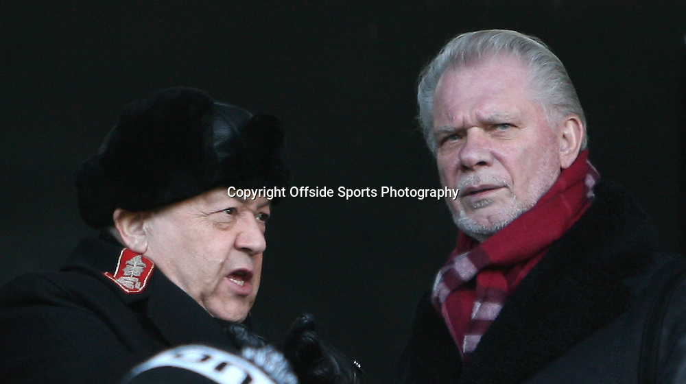 26/12/2010 - Barclays Premier League - Fulham vs. West Ham United - West Ham owners David Gold (L) and David Sullivan - Photo: Simon Stacpoole / Offside.