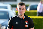 Lewis Cook (16) of AFC Bournemouth arriving at the Vitality Stadium before the Premier League match between Bournemouth and Manchester United at the Vitality Stadium, Bournemouth, England on 18 April 2018. Picture by Graham Hunt.