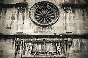 St. Saviour Church detail, old town Dubrovnik, Dalmatian Coast, Croatia