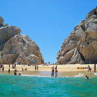 Lover&rsquo;s Beach in Cabo San Lucas, Mexico<br /> Playa del Amante is a popular hideaway in Los Cabos. You can walk there but it is much easier to charter a boat or hail a water taxi.  Lover&rsquo;s Beach is a small stretch of hard beige sand facing both the Pacific and the Sea of Cort&eacute;s.  Each side offers magnificent views.  However the ocean waves and rip currents can be treacherous which is why the locals call it Divorce Beach.  It is strongly advised to only swim or snorkel in the water facing the harbor.