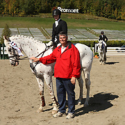 Sophie Laframboise (CAN) and Fleet Makani presented by Mike Gallagher at the 2007 Bromont Fall Horse Trials held September 20 - 23 at the 1976 Olympic site in Bromont, Quebec, Canada.