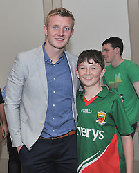 Galway's Joe Canning and Jamie Hoban from Carrakennedy, Westport pictured at the Newstalk Off the Ball Roadshow in association with Liberty Insurance live from the Knockranny House Hotel Westport, on thursday last.<br /> Pic Conor McKeown