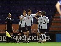 Photo: Kevin Poolman.<br />Leicester City v Fulham. The FA Cup. 06/01/2007. Brian McBride (2nd left) celebrates his goal and Fulham's first with his team mates.
