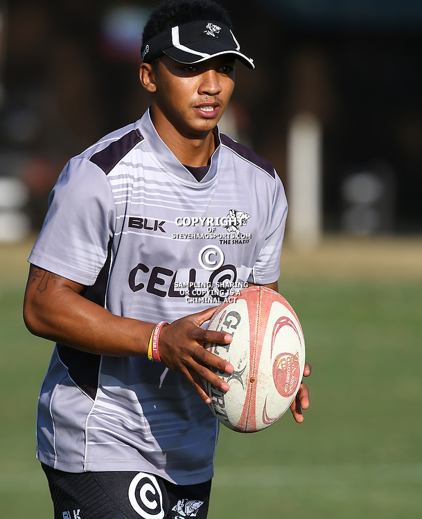DURBAN, SOUTH AFRICA Tuesday 30th June 2015 - Garth April during the Cell C Sharks training session at Growthpoint Kings Par in Durban, South Africa. (Photo by Steve Haag)