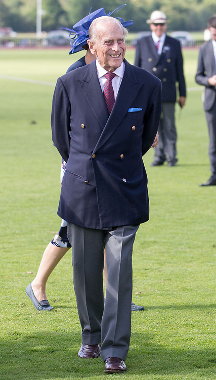 The Duke of Edinburgh during the Bentley Motors Royal Windsor Cup Final at Guards Polo Club, Windsor Great Park, Egham, Berkshire.