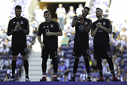 July 28, 2018 - Porto, Porto, Portugal - Porto's goalkeeper's Iker Casillas (2L), Fabiano (1L), Vana Alves (2R), Jose Sa (1R) in action during the Official Presentation of the FC Porto Team 2018/19 match between FC Porto and Newcastle, at Dragao Stadium in Porto on July 28, 2018. (Credit Image: © Dpi/NurPhoto via ZUMA Press)