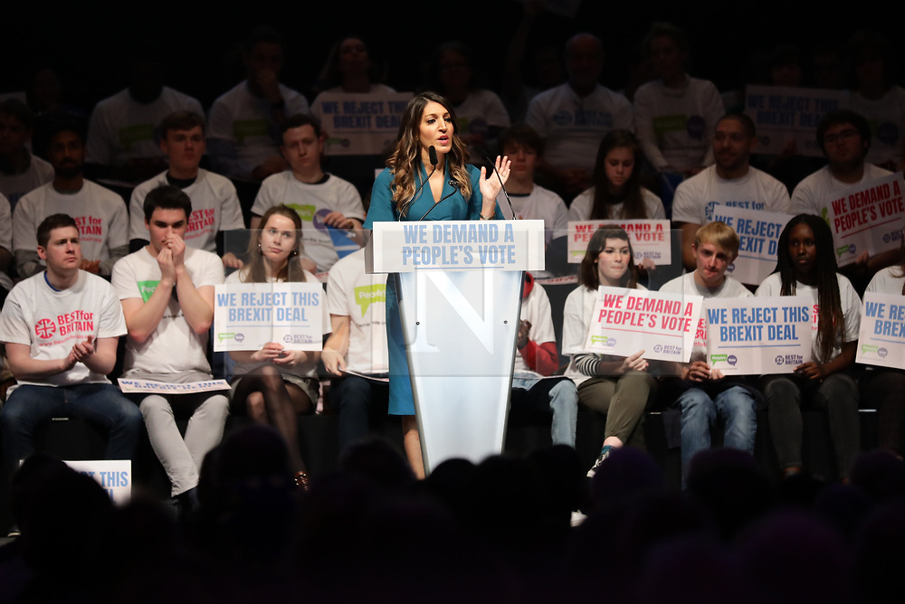 © Licensed to London News Pictures. 09/12/2018. London, UK. Labour MP Rosena Allin-Khan speaks at a People's Vote rally at the Excel Centre in London. MPs will vote on Prime Minister Theresa May's proposed Brexit deal in the coming week. Photo credit: Rob Pinney/LNP