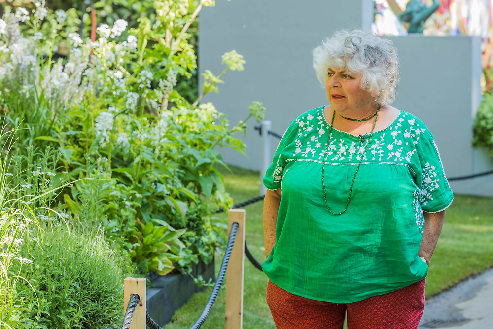 Miriam Margolyes - The RHS Chelsea Flower Show at the Royal Hospital, Chelsea.