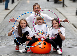 Repro Free: 22/05/2013 Pictured at the launch of Ireland's newest family event, The Just 4 Kids Show, are Alexandra Lungu, age 11, from Cabra, Cian Hennessy, age 13 from Sallynoggin, Emma Lyons-Duffy, age 7 from Clonee, and Jennifer Sheremet, age 10, from Jervis members of The Young Performers Academy. The Just 4 Kids Show takes place this weekend Saturday, 25th May and Sunday, 26th May, 2013 in the RDS, Dublin. Tickets available at the door or  from www.just4kidsshow.ie  - adults ?10, kids GO FREE! Picture Andres Poveda.