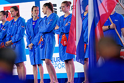 Team Netherlands during the semi final Netherlands vs Russia on LEN European Aquatics Waterpolo January 23, 2020 in Duna Arena in Budapest, Hungary