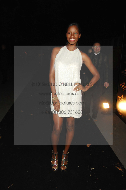 Singer JAMELIA at the Moet Mirage Evening at Holland Park Opera House, London W8 on 16th September 2007.<br />