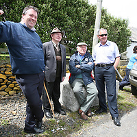 Bernard Keating,Clahansavane,Pj Magner,Ross,Pat Bonfil,Mooneen and Tom McInerney,Kilbaha watching the action at the All Ireland Currach Racing championships at the Loophead Gathering Festival ,Co Clare this weekend.<br /> <br /> Photograph by Eamon Ward