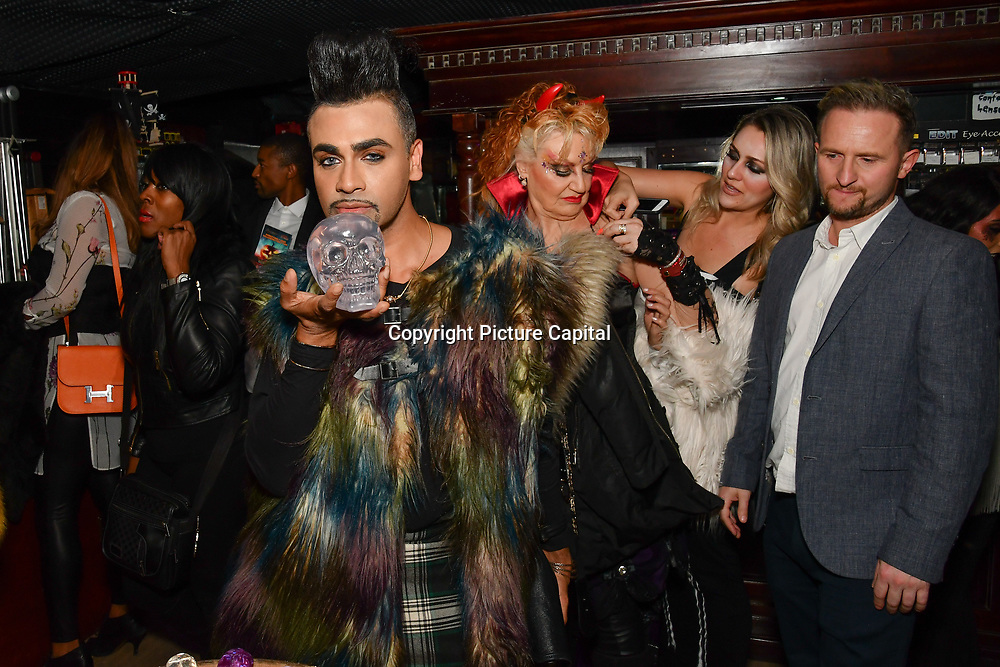 Mr Fabulous - Jay Kamiraz attend BBC1 All Together Now Series 1 Cast Members, fright night at The London Bridge Experience & London Tombs on 28 October 2018, London, UK.