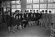 05/04/1963<br /> 04/05/1963<br /> 05 April 1963<br /> Aer Lingus Hostesses visit Jacob's Biscuit factory, Dublin.