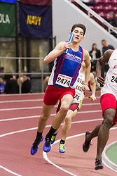 Boston University Multi-team indoor track & field, men 4x400 meter relay, heat 1, UMass Lowell
