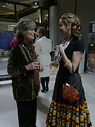 Virginia Mckenna and Nina Young. Cocktail party celebrating Born Free Foundation 21 years anniversary.  Royal Geographical Society, Kensington Gore. 14 march 2005. ONE TIME USE ONLY - DO NOT ARCHIVE  © Copyright Photograph by Dafydd Jones 66 Stockwell Park Rd. London SW9 0DA Tel 020 7733 0108 www.dafjones.com