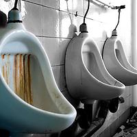 Abandoned toilets
