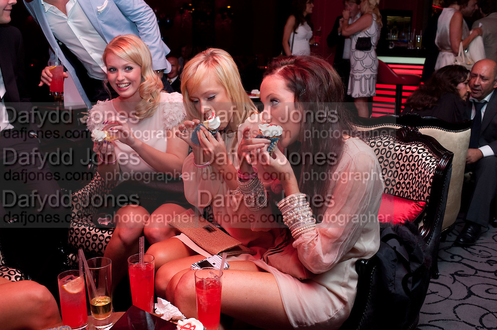 EMILY JUDE; EMILY KISHERE; ( MISS BOURNEMOUTH) ASHLEY GRIBBON, Miss Great Britain - anniversary event. The Red Room, Les Ambassadeurs Club, 5 Hamilton Place, London W1 18 August 2010. -DO NOT ARCHIVE-© Copyright Photograph by Dafydd Jones. 248 Clapham Rd. London SW9 0PZ. Tel 0207 820 0771. www.dafjones.com.