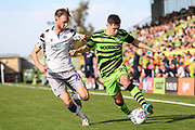 Forest Green Rovers Jack Aitchison(29), on loan from Celtic on the ball during the EFL Sky Bet League 2 match between Forest Green Rovers and Colchester United at the New Lawn, Forest Green, United Kingdom on 14 September 2019.