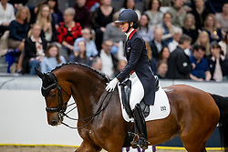 LOSOS DE MUÑIZ Yvonne (DOM), Aquamarijn<br /> Göteborg - Gothenburg Horse Show 2019 <br /> FEI Dressage World Cup™ Final I<br /> Int. dressage competition - Grand Prix de Dressage<br /> Longines FEI Jumping World Cup™ Final and FEI Dressage World Cup™ Final<br /> 05. April 2019<br /> © www.sportfotos-lafrentz.de/Stefan Lafrentz