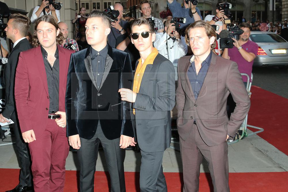 Matt Helders; Nick O'Malley; Alex Turner; Jamie Cook; The Arctic Monkeys, GQ Men of the Year Awards, Royal Opera House, London UK, 03 September 2013, (Photo by Richard Goldschmidt)