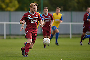 Croydon Athletic midfielder Daniel Cumber moves the ball up field during the Southern Counties East match between AFC Croydon Athletic and Hollands & Blair at the Mayfield Stadium, Croydon, United Kingdom on 10 October 2015. Photo by Mark Davies.