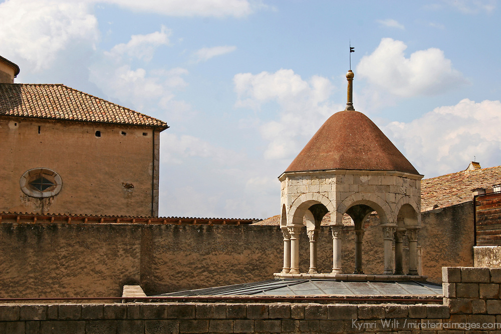 Europe, Spain, Girona. Cupola of Arab Baths in Girona.