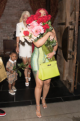 Cardi B and daughter Kulture are both seen leaving Offset Father's Day dinner with Roses. 22 Jun 2020 Pictured: Cardi B and Kulture. Photo credit: 007 / MEGA TheMegaAgency.com +1 888 505 6342