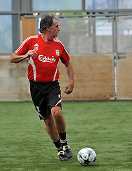 LIVERPOOL, ENGLAND - Monday, May 11, 2009: Ex-Liverpool player Mark Lawrenson during a training session at Melwood as the players prepare for the Hillsborough Memorial Game in aid of the Marina Dalglish Appeal which will be staged at Anfield on May 14. (Photo by Dave Kendall/Propaganda)