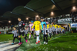 Players going on pitch before football match between NŠ Mura and NK Bravo in 20th Round of Prva liga Telekom Slovenije 2019/20, on December 5, 2019 in Fazanerija, Murska Sobota, Slovenia. Photo by Blaž Weindorfer / Sportida