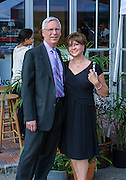 (Mr. & Mrs.?) arriving for the SOPAC 2015 Gala.