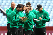 Nelson Oliveira of Norwich and James Maddison of Norwich share a joke before the Sky Bet Championship match at Villa Park, Birmingham<br /> Picture by Paul Chesterton/Focus Images Ltd +44 7904 640267<br /> 01/04/2017