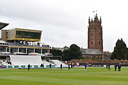 Essex players warming up ahead of the Specsavers County Champ Div 1 match between Somerset County Cricket Club and Essex County Cricket Club at the Cooper Associates County Ground, Taunton, United Kingdom on 26 September 2019.