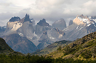 Paine massif from near Lago Toro, Torres del Paine national park, Patagonia, Chile