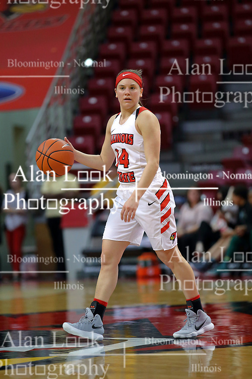 10 December 2017: Paige Saylor during an College Women's Basketball game between Illinois State University Redbirds and the Eagles of Eastern Michigan at Redbird Arena in Normal Illinois.