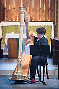 Deal Festival 2017: Harpist Alex Rider presents an enchanting programme, &lsquo;UNDER A GREEN LINDEN&rsquo;, weaving together 17th Century with 20th Century works taken from the keyboard repertoire, including music by Couperin, Tournier, Purcell and Benjamin Britten.<br /> St Andrew&rsquo;s Church, Deal<br /> &copy; Tony Nandi 2017