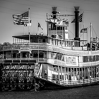 Picture of Natchez Steamboat in New Orleans. The Natchez Steamboat is docked at Toulouse Street and provides cruises on the Mississippi River.