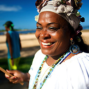 Tia Deth pendant la procession de  Yemanja///Tia Deth during the procession of Yemanja