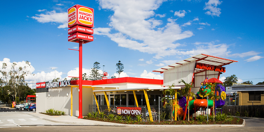 Commercial exterior. Hungry Jacks Australia
