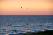 Sylt, Germany. Hörnum. Sunset at the beach.