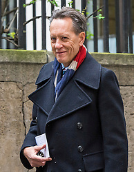 © London News Pictures. 05/03/2016. London, UK. Actor RICHARD E. GRANT attends a ceremony to mark the wedding of Rupert Murdoch and Jerry Hall held at St Brides Church on Fleet Street,  central London on February 05, 2016. . Photo credit: Ben Cawthra /LNP