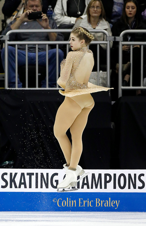 Gracie Gold performs during the ladies free skate competition at the U.S. Figure Skating Championships Saturday, Jan. 21, 2017, in Kansas City, Mo. (AP Photo/Colin E. Braley)