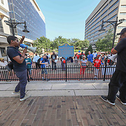 Many gathered for the Unite Wilmington March Friday August. 24, 2018, at Louis L. Redding City/County Building in Wilmington, DE. <br /> <br /> Unite Wilmington is designed to bring together all groups from all different backgrounds, in order to peacefully stand together as one.<br /> This March is in celebration and collaboration with August Quarterly.