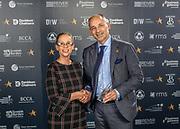 Scottish Border of Chamber Border Busines awards, 2017, held at Springwood Hall.<br /> <br /> 'Manufacturer & Exporter of the Year' winner Johnstones of Elgin, based in Hawick. Sponsored by Reiver Recruitment.