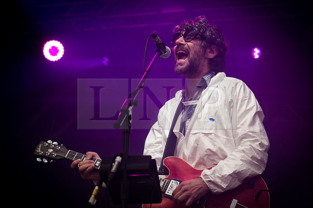 "© Licensed to London News Pictures . 04/07/2015 . Manchester , UK . Super Furry Animals perform at the Castlefield Bowl as part of the "" Summer in the City "" festival in Manchester. Photo credit : Joel Goodman/LNP"