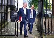 © Licensed to London News Pictures. 18/09/2012. Westinster, UK LEFT: Foreign Secretary William Hague arrives for the Cabinet meeting today in Downing Street 18 September 2012. Photo credit : Stephen Simpson/LNP