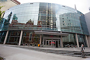 An exterior view of the new $130 million campus for First Baptist Dallas on Easter Sunday, March 31, 2013. (Cooper Neill/The Dallas Morning News)